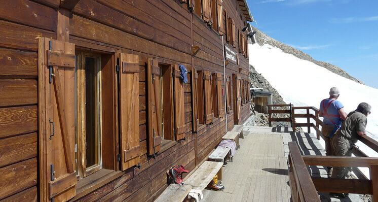 Capanna Gnifetti mountain hut