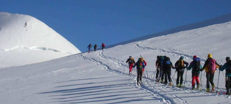 scialpinismo nel Monterosaski