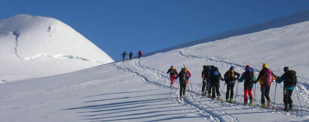 Ski touring Italy in the Monterosa ski
