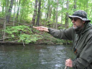 Azione di pesca con Tenkara