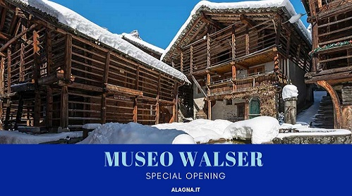 Walser Museum Alagna in winter