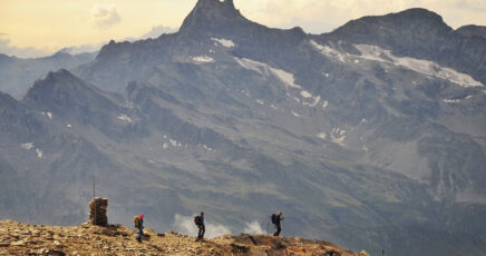 Ascent to Castore: daily climb